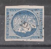 CERES Non Dentelée N° 4 , Petit BORD DE FEUILLE Obl Pc 2947 De STAINVILLE , Meuse, INDICE 16, TTB RARE - 1849-1850 Ceres
