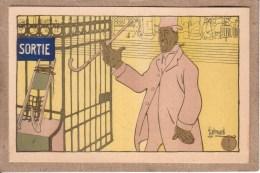 """ILLUSTRATEUR EDOUARD BERNARD - ART NOUVEAU - SERIE DE 6 CARTES + POCHETTE - """" L'ENTÔLAGE """" - PROSTITUTION - Illustrators & Photographers"""