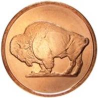 Copper Cobre Cuivre Round 2011 Stati Uniti - Medaglia Da Un Oncia Once In Rame BUFFALO Proof - Etats-Unis