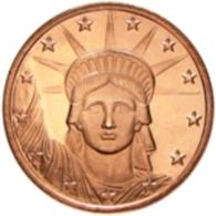 Copper Cobre Cuivre Round 2011 Stati Uniti - Medaglia Da Un Oncia Once In Rame STATUE LIBERTY Proof - Etats-Unis