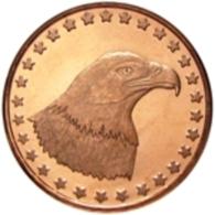 Copper Cobre Cuivre Round 2011 Stati Uniti - Medaglia Da Un Oncia Once In Rame EAGLE HEAD Proof - Etats-Unis