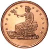 Copper Cobre Cuivre Round 2011 Stati Uniti - Medaglia Da Un Oncia Once In Rame TRADE DOLLAR Proof - Etats-Unis