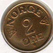 Norvège Norway 2 Ore 1955 KM 399 - Norvège