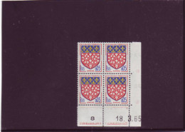 N° 1352 - 0,05F Blason D'AMIENS - J De I+J - 1° Tirage Du 16.3.65 Au 14.4.65 - 18.03.1965 - - 1960-1969