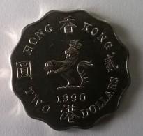 Hong Kong - 2 Dollars 1990 - Elizabeth II - - Hong Kong