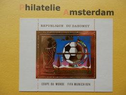 Dahomey 1974, WORLD CUP MUNICH 74 / FOOTBALL SOCCER VOETBAL FUSSBALL FUTBOL CALCIO: Mi 587, Bl. 37, ** - Coppa Del Mondo
