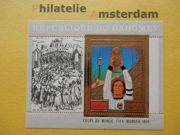 Dahomey 1974, WORLD CUP MUNICH 74 / FOOTBALL SOCCER VOETBAL FUSSBALL FUTBOL CALCIO: Mi 611, Bl. 55, ** - Fußball-Weltmeisterschaft