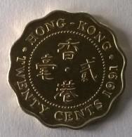 Hong Kong - 20 Cents 1991 - Elizabeth II - Superbe - - Hong Kong