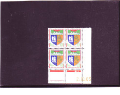 N° 1354A - 0,18F Blason De SAINT DENIS -A De A+B - 1° Tirage Du 1.10.63 Au 11.10.63 - 2.10.1963 - - 1960-1969