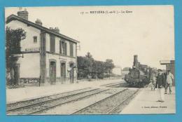 CPA Chemin De Fer Arrivée Du Train En Gare De RETIERS 35 - France