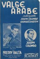 Partition De Joseph COLOMBO Freddy BALTA - Valse Arabe - Autres