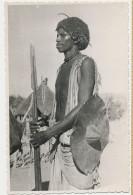 Real Photo Warrior With Lance  Foto Lusvardi Asmara - Erythrée