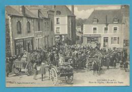 CPA  Métier Marchands Ambulants Marché Aux Veaux Place De L´Eglise GUICHEN  35                                  35 - Frankreich