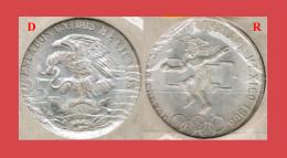 OLYMPIC SILVER COIN, MONETA ARGENTO OLIMPIADI - MEXICO, MESSICO - CITTÀ DEL MESSICO 1968 - Mexico