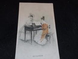 Instrument De Musique . Le Clavecin. Carte Offerte Par La Maison Bériot à Lille . Chicorée Des Rois. - Autres