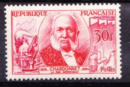 N° 1017 Inventeurs Célèbres : Louis Maucie Hilaire De Bernigaud Comte De Chardonnet:  Un  Timbre Neuf Impéccable - Ongebruikt