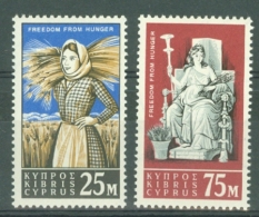 Cyprus: 1963   Freedom From Hunger      MH - Chypre (République)