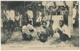 Chanteuse Et Musiciens Laotiens Khong Raquez 24 B Timbrée Paksé à Pharmacien Hopital Complementaire Arcachon 1916 - Laos