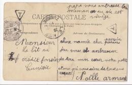 Belle Carte Postale - Le Kef (TUNISIE) - Affranchie Côté Carte ; Taxée à 10 Cts (chiffre Taxe Régence De Tunis) - Tunisia (1956-...)