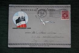 Timbre Sur Enveloppe Commémorative MONTREAL - SAGUENAY, 1947, S.S RICHELIEU - HerdenkingsOmslagen