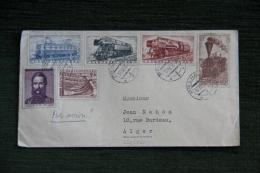 Enveloppe Timbrée, TCHECOSLOVAQUIE, Trains. - Tchécoslovaquie