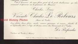 Document Ancien De 1908 - COOLUS ( Marne ) - Charles Louis Vicomte Charles LE REBOURS - Maire De La Commune - Documents Historiques