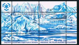 YU1418 Serbia 2011 To Protect Polar Environment Glacier New MS - Servië