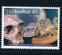 GB0409 Gibraltar 2005 Gibraltar Museum Prehistoric Human Skull 1 New - Jersey
