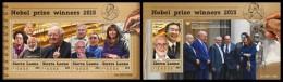 SIERRA LEONE 2015 - Nobel Prize Winners, M/S + S/S. Official Issue. - Nobel Prize Laureates