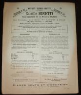 Camille Binetti (Maison Erard ) à Cannes Rue D Antibes  - Musique Pianos Orgues -  Publicité Affichette 25X30 Cm - - Afiches
