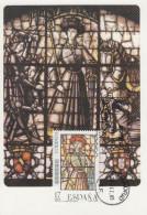 Carte Maximum  1er Jour   ESPAGNE   Vitraux   Artistiques    1985 - Vetri & Vetrate