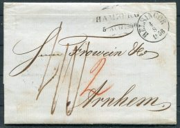 1856 Denmark Helsingor Hamburg Entire - Arnheim, Netherlands - Danimarca
