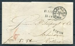 1853 Denmark Helsingor Hamburg FRANCO Entire -  Netherlands - Danimarca