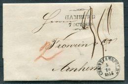 1855 Denmark Christiansfeldt Hamburg Entire -  Arnheim, Netherlands - Danimarca