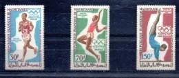 MARITANIE Jeux Olympiques MEXICO 68. Yvert N° PA 90/92* MLH - Verano 1968: México