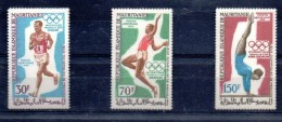 MARITANIE Jeux Olympiques MEXICO 68. Yvert N° PA 90/92** MNH - Summer 1968: Mexico City