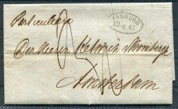 1863 Hamburg Entire -  Amsterdam, Netherlands - Hamburg