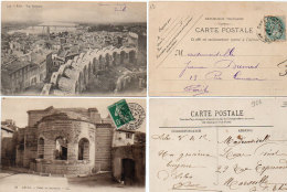 ARLES - 2 CPA - Vue Gle - Palais De Constantin - Cachets De Gare  (87157) - Arles