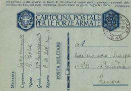 FRANCHIGIA WWII POSTA MILITARE 45 1941 AGRINION GRECIA P.M. 202 BIS X GENOVA - 1900-44 Victor Emmanuel III.