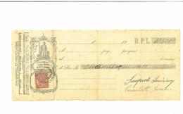 CAMBIALE  DI LIRE 10.500  ANNO 1935 - COMPLETA DI 1 TASSA DI  - RECANATI - Bills Of Exchange