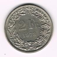 2 Francs Suisse - Helvetia Debout - 1978. - Suisse