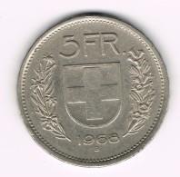 5 Francs Suisse -  Confoederatio Helvetica - 1968 B. - Suisse