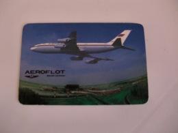 AEROFLOT Soviet Airlines  Portuguese Pocket Calendar 1992 - Calendari
