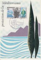 Carte Maximum  1er  Jour   MONACO   Protection  De  La   Méditerranée    1977 - Environment & Climate Protection