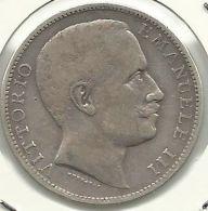 ITALIA - ITALY 2 LIRE 1905 PICK KM33 XF SILVER - 1900-1946 : Victor Emmanuel III & Umberto II