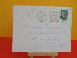 Flamme - 45 Loiret, Montargis - Musée Girodet - 4.3.1970 - Marcophilie (Lettres)