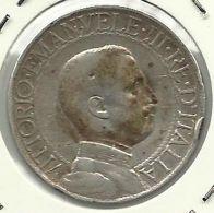 ITALIA - ITALY 1 LIRA 1910 PICK KM45 FINE+ SILVER - 1900-1946 : Victor Emmanuel III & Umberto II