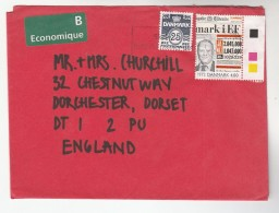 DENMARK COVER Stamps 4.00 MILLENIUM NEWSPAPER  To GB - Covers & Documents