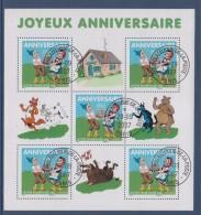 Timbres Anniversaire Sylvain Et Sylvette Héros Bandes Dessinées De Jean-Louis Pesch BF 112 (4081 X 5) Tvp-20g - Gebraucht