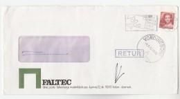 1982 Holbaek DENMARK Stamps COVER To Vordingborg RETUR RETURNED TO SENDER With POST LABEL ON BACK - Cartas